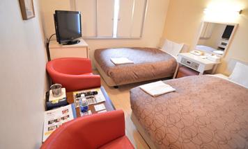 千歳第一ホテル 小さなホワイトツインルーム